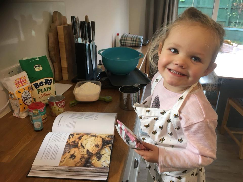 Wee chef Emily Making Cookies p215